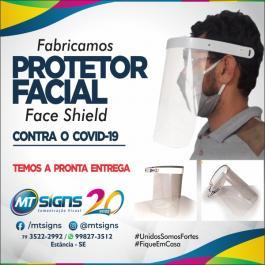 Proteção Facial Faceshild PETG e PS